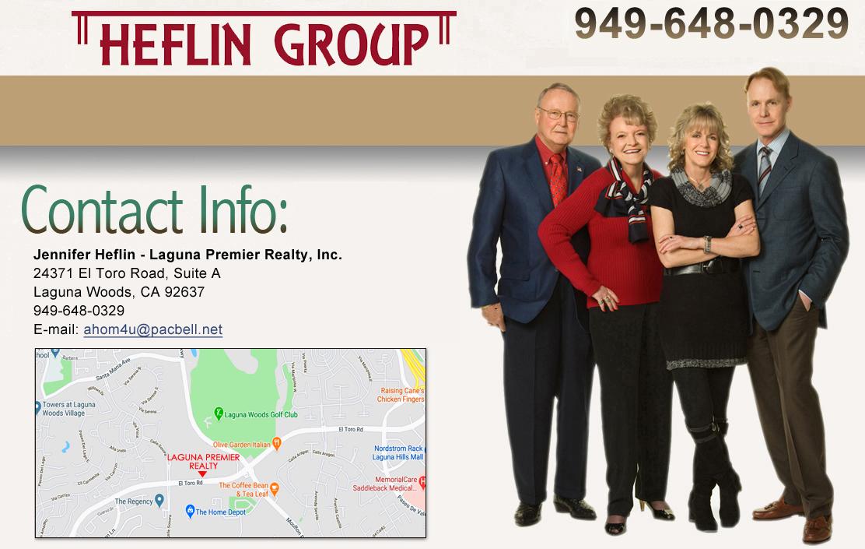 Jennifer Heflin of Heflin Realty, Inc. specializes in Laguna Woods ...